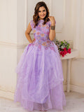 Designer and Beautiful Violet Gown