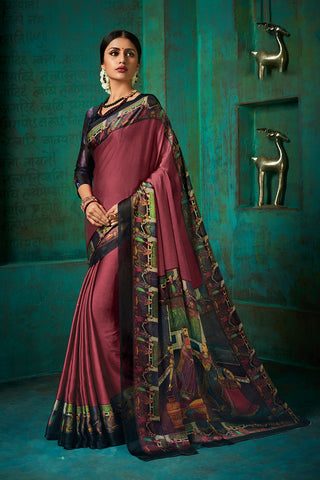 Designer and Beautiful Multicolor Chiffon Saree
