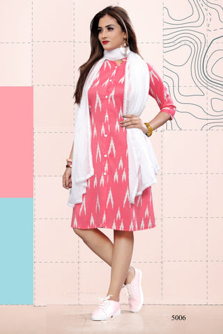 Beautiful and Designer Straight Cut Kurti with dupatta