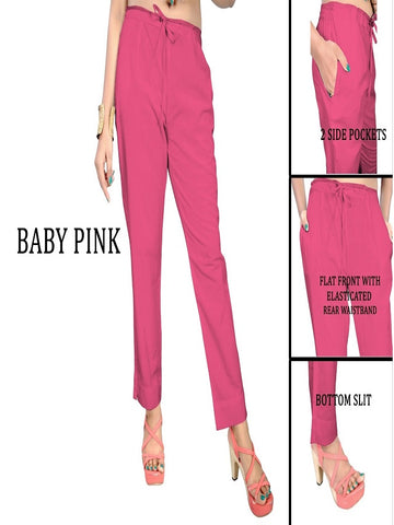 Exclusive Baby Pink Color Slub Cotton Pant