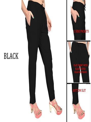 Exclusive Black Color Slub Cotton Pant