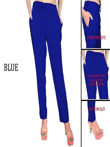 Exclusive Blue Color Slub Cotton Pant