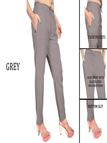 Exclusive Grey Color Slub Cotton Pant