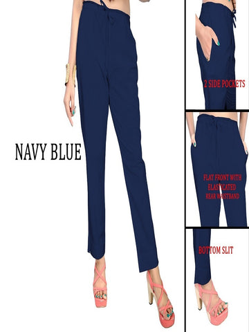 Exclusive Navy Blue Color Slub Cotton Pant