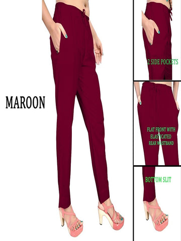 Exclusive Maroon Color Slub Cotton Pant