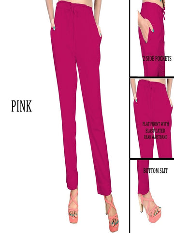 Exclusive Pink Color Slub Cotton Pant