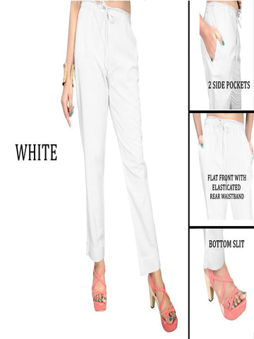 Exclusive White Color Slub Cotton Pant
