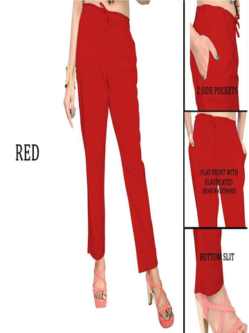 Exclusive Red Color Slub Cotton Pant