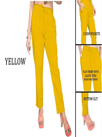 Exclusive Yellow Color Slub Cotton Pant