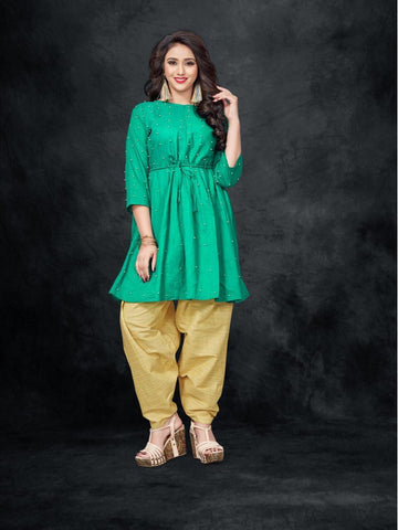 Designer and Beautiful Straight Cut Kurti With Dhoti Pants