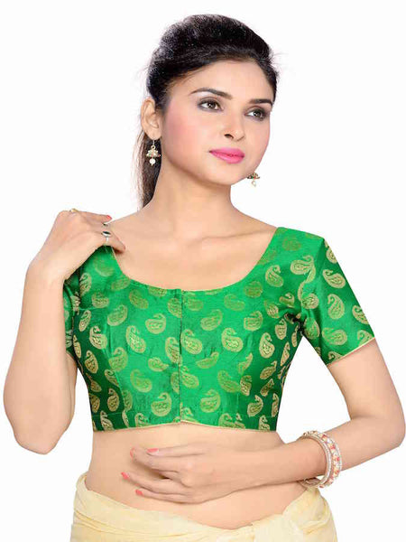 Green Fashion Blouse - PurpleTulsi.com  - 1