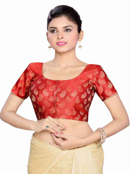 Maroon Exotic Blouse - PurpleTulsi.com  - 1