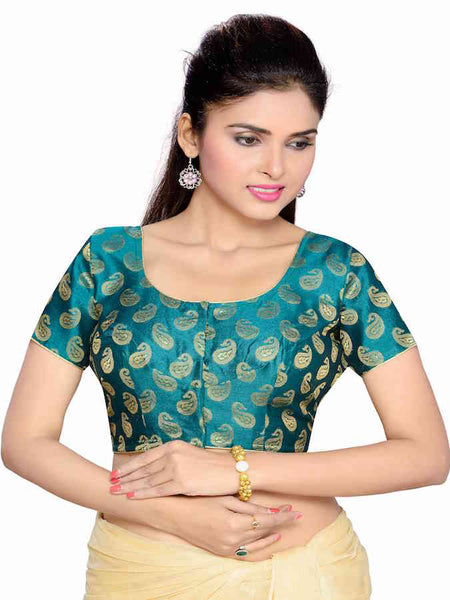 Teal Fashion Blouse - PurpleTulsi.com  - 1