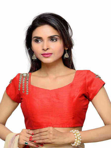 Red Exotic Blouse - PurpleTulsi.com  - 1