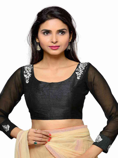 Black Fashion Blouse - PurpleTulsi.com  - 1