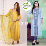 Designer and Beautiful Kurti and Anarkali Suit Combo(Pack of 2)
