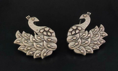 Beautiful Silver Plated Oxidised Earring