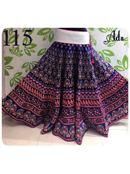 Beautiful Designer Printed Banglori Satin Skirts