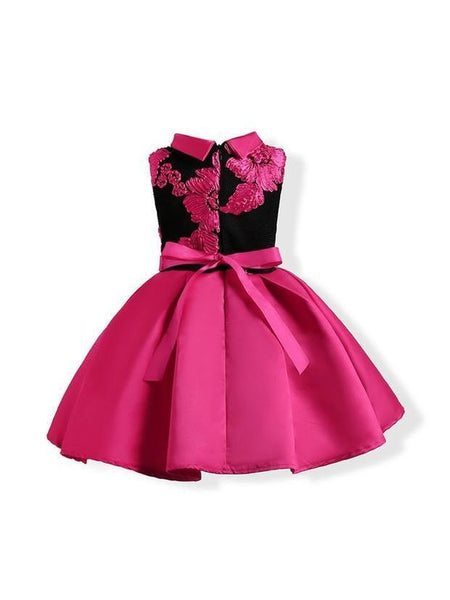 Hot Selling Pleated Sleeveless Girls Party Dress