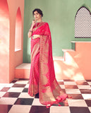 Designer Heavy Banarasi Silk Saree With Two Unstitched Blouse