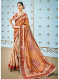 Designer and Beautiful Multi Color Color Silk Saree