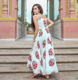 Beautiful and Designer Pure Maslin Off White Gown