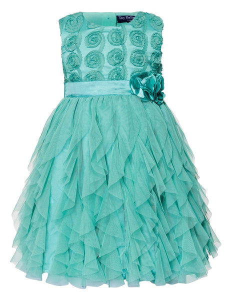 Sea Green Kids Frock (4-6Yrs) - PurpleTulsi.com  - 1