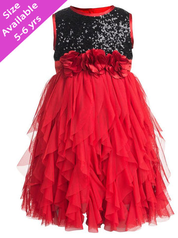 Red and Black Frock (4-6Yrs)