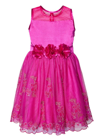 Cute Pink Kids Dress (4-6Yrs) - PurpleTulsi.com