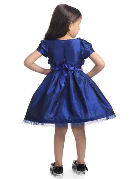 Navy Blue Kids Frock (4-6Yrs) - PurpleTulsi.com