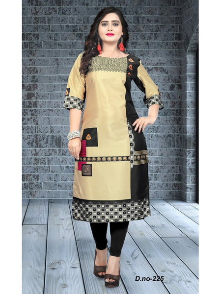 Designer Multi Color Taffeta Silk Kurti