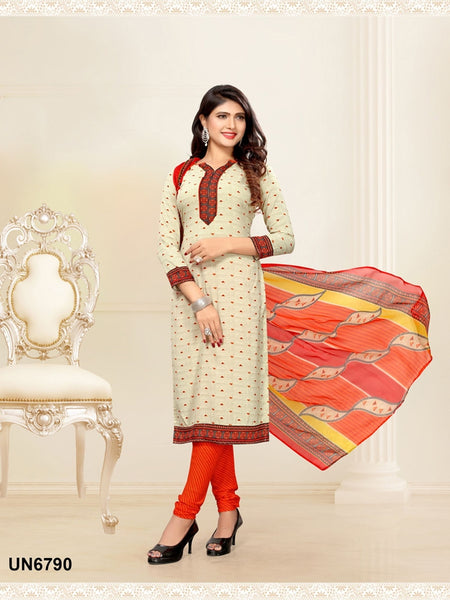 Beautiful Designer Beige Color Digital Printed Straight Cut Suit