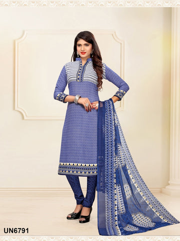 Beautiful Designer Purple Color Digital Printed Straight Cut Suit