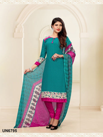 Beautiful Designer Bottel Green Color Digital Printed Straight Cut Suit
