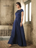 Designer Navy Blue Color Diamong With Hangings Work Gown