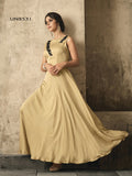 Designer Cream Color Moti Work Gown