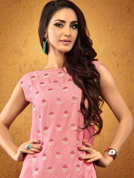 Pink Cute Cupcake Top - PurpleTulsi.com  - 1