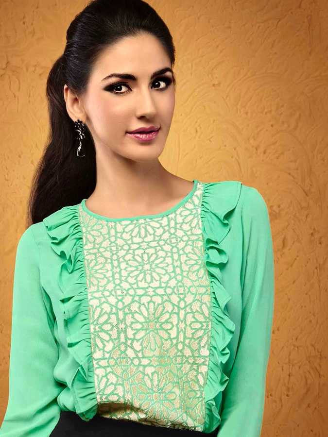 Beautiful Green Top - PurpleTulsi.com  - 1