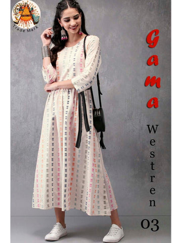 Designer and Beautiful Western Look Straight Cut Kurti Top