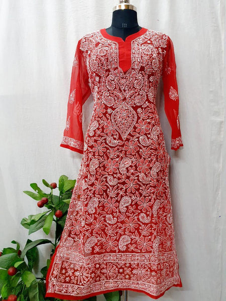 Designer Jal Worked Straight Cut Kurti with Matching Inner