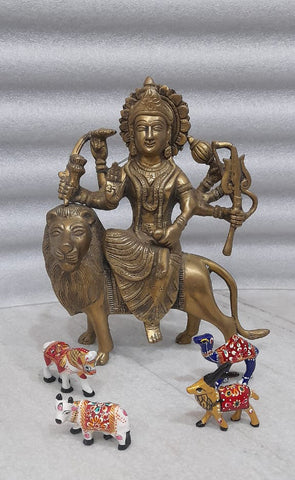 Beautiful Maa Durga Statue with Lion