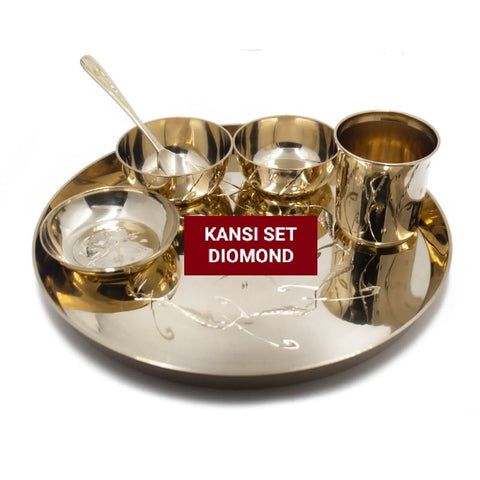 Diamond Worked Kansi Set- pack of 6