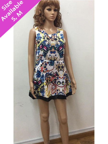 Digital Printed Short Dress