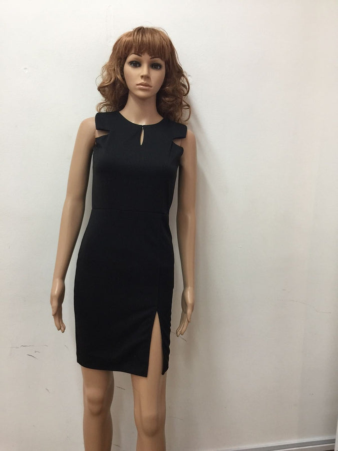 Black Solid Formal Style Dress