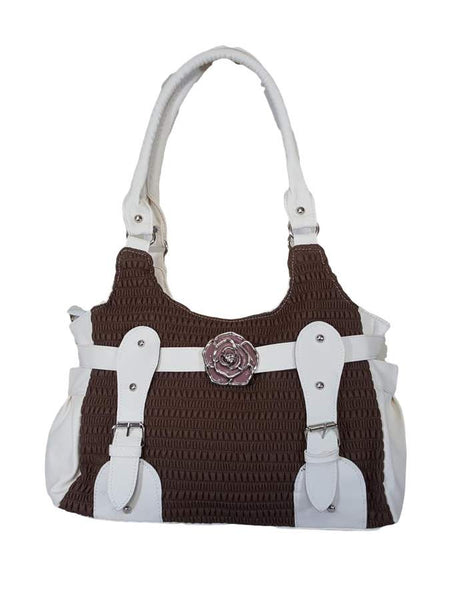 White artificial leather bag - PurpleTulsi.com