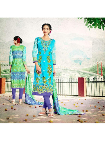Beautiful Designer Multi Color Cotton Suit