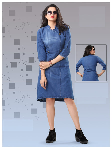 Beautiful Designer Denim Kurti