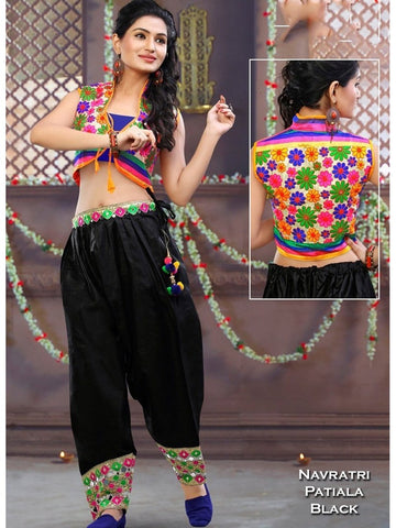 Patiala with Cotty in Black Color with Real Images