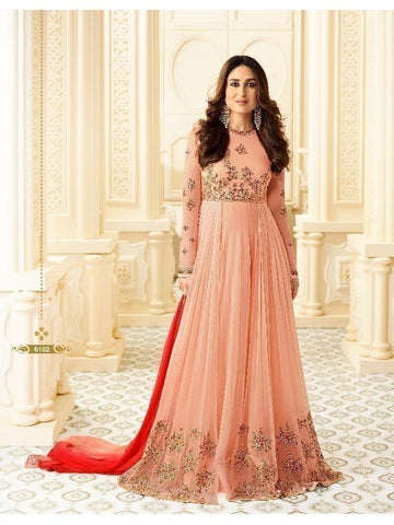 Exclusive designer Peach silk Suit for Ladies