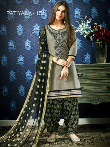 Beautiful & Designer Grey Color Patiala Suits